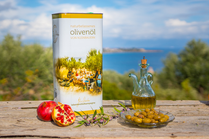 Abbildung von biologisch angebautem Olivenöl aus Griechenland